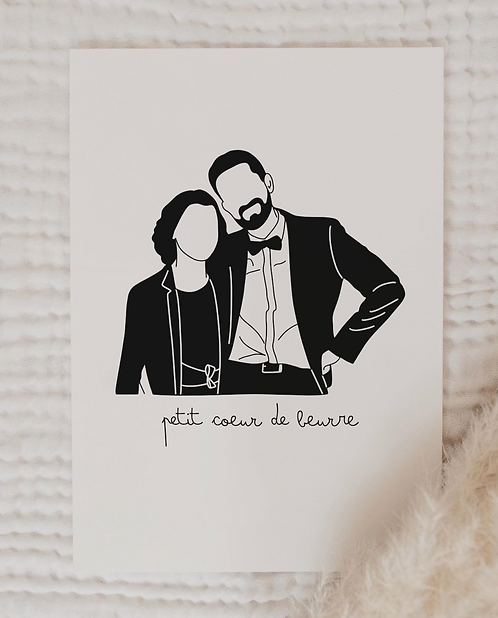 Affiche illustration Black & White (+ Options)