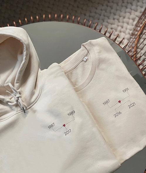 """T-shirt """"Années"""" unisexe personnalisable (+couleurs)"""