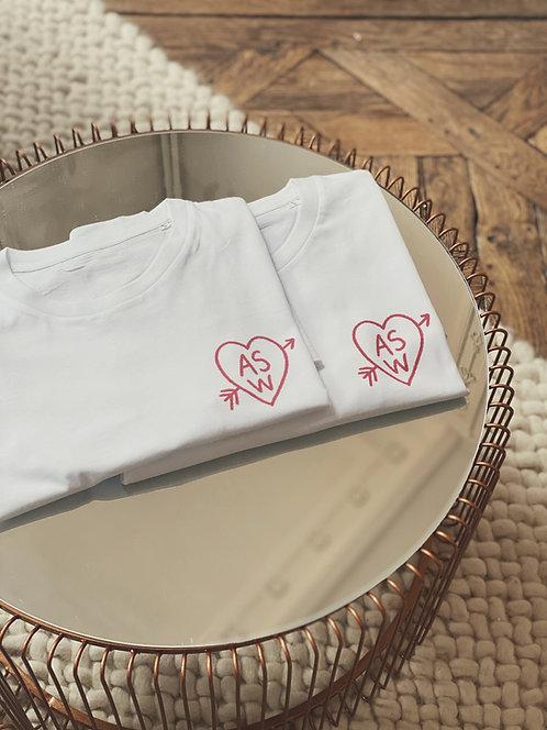 Tshirt Coeur à la craie (+ Options)