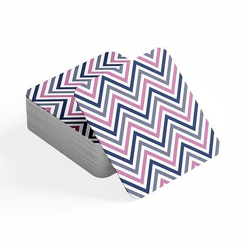 Square White Plastic Cards