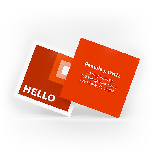 Square Suede Laminated Business Cards