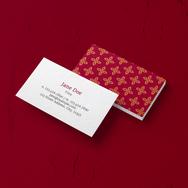 Matte Business Card - Burgundy