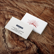 Cotton Business Card - Mountain