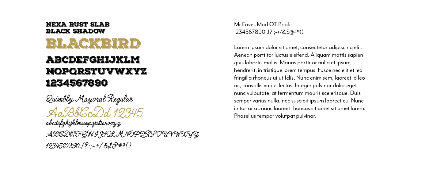 Company Typography Kit
