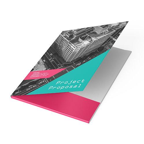 Presentation Folders with Silk Lamination