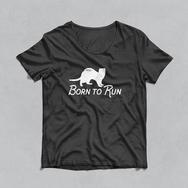 Ferret T-shit born to run