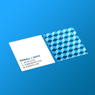 Square Business Card - Blue