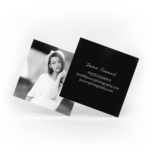 Square Silk Laminated Business Cards