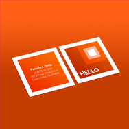 Square Business Card - Orange