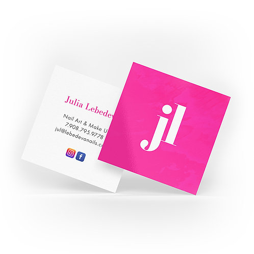 Square Business Cards with UV gloss finish