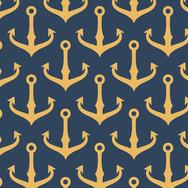 Golden Anchors - Navy