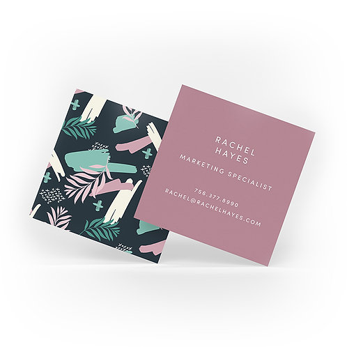 Square Business Cards with Matte Finish