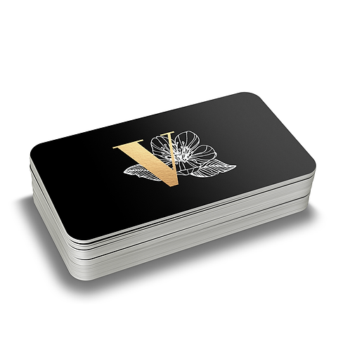 Silk Business Cards with Gold Foil Stamping