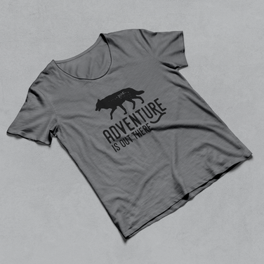 Wolf T-shirt adventure is out there