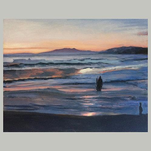Seascape Twilight by David Dunn