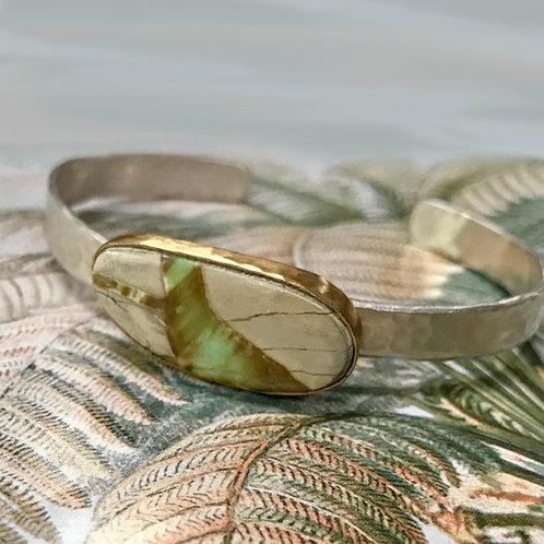 Varasite silver cuff by Chuck Nash