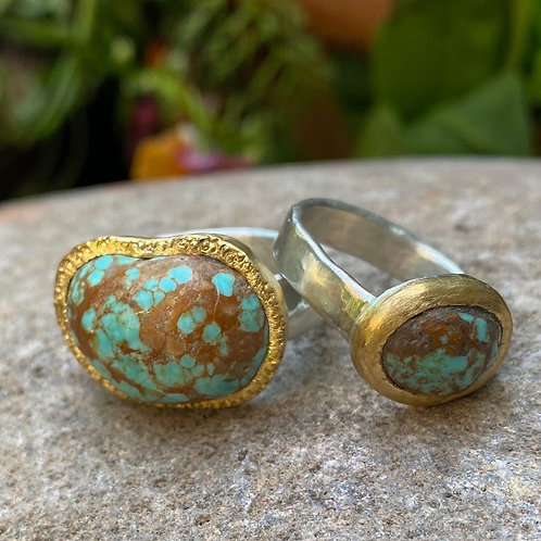 Small Turquoise Ring by Chuck Nash