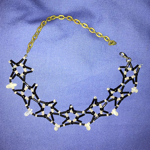 B&W Drop Star Necklace,by Darcy Nicholson