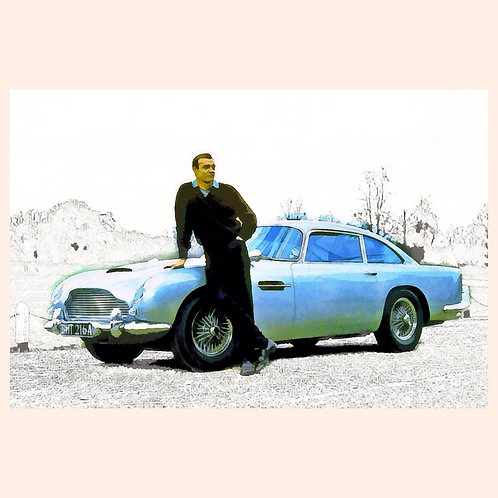 Sean Connery and DB4, by Daniel Franco