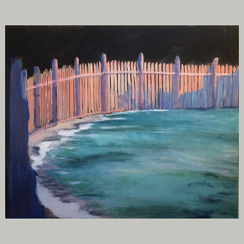 Fence and Ocean by David Dunn