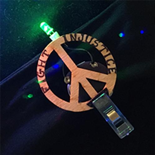 PEACE Pin Zoomwear: by Tritonia Designs