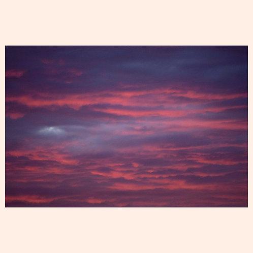 """RUBY CLOUDSCAPE  SAN FRANCISCO  8"""" x 10"""" by KAREN """"K.C."""" COHEN"""