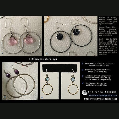 5 Elements Earrings by Tritonia Designs