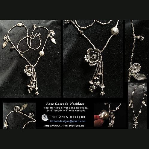 Rose Cascade Necklace by Tritonia Designs