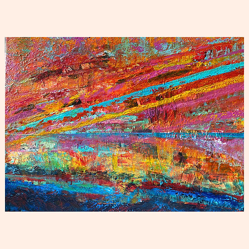 Sunset Wave, 20x18 by Sky Williams