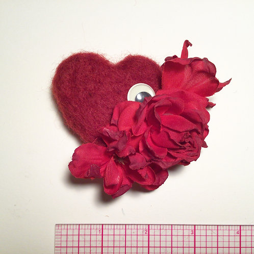 Medium heart pin by HeartyHarHar