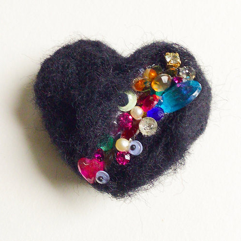 Heart with Gash pin by HeartyHarHar
