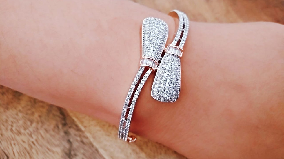 American Diamond Kada, Bracelet with an year warranty