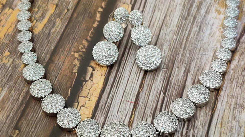 High quality American Diamond ,Cubic Zircon Necklace Set
