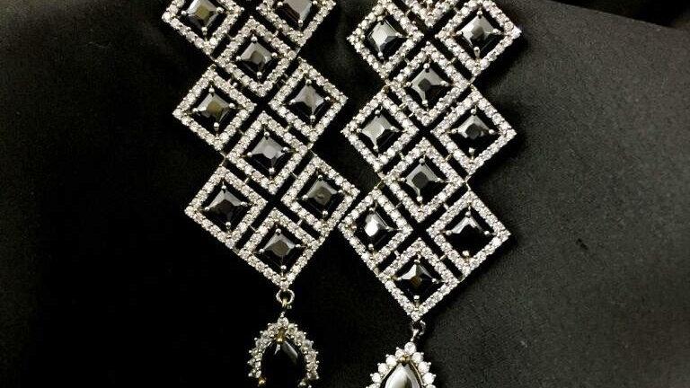 American Diamond Danglers with warranty