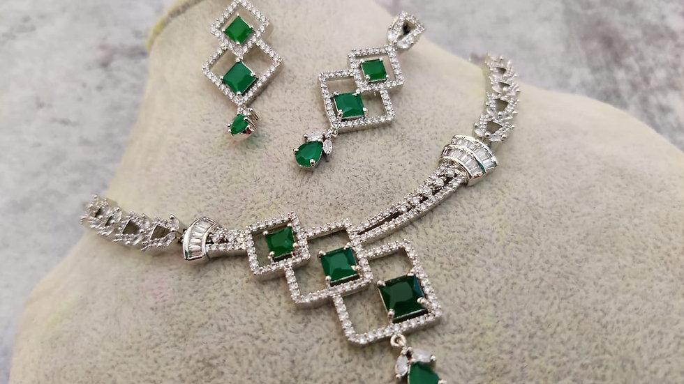 High quality American Diamond Necklace set