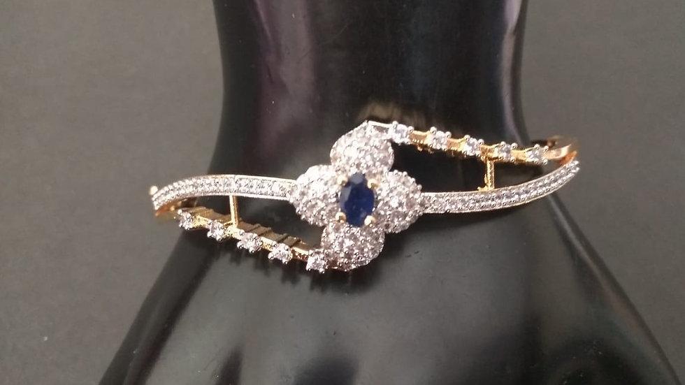 Elegant and stylish American Diamond Kada, Bracelet with an year warrant