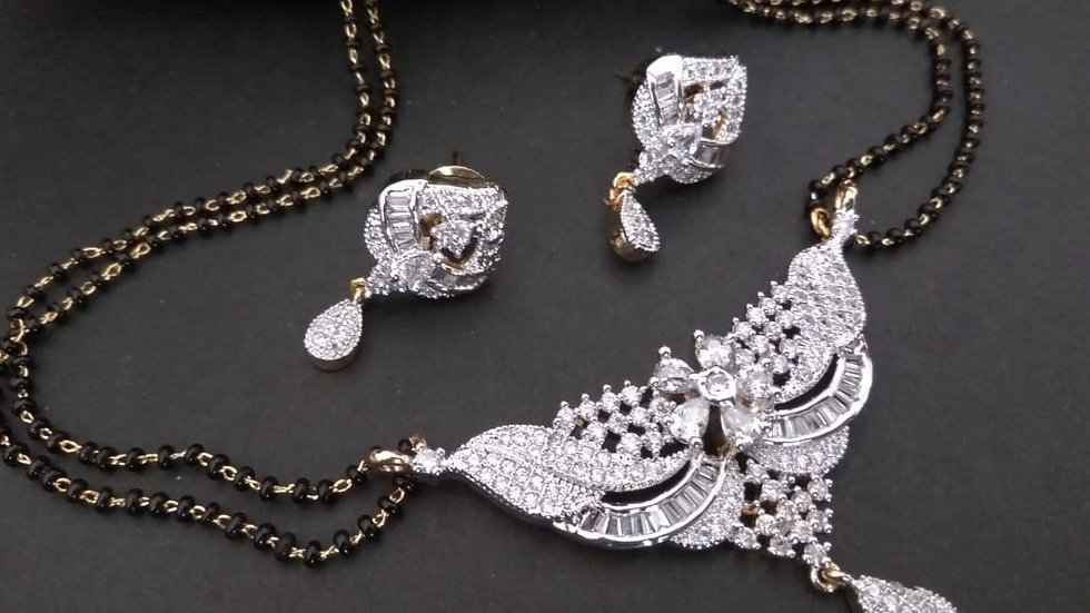 American diamond Mangalsutra set with warranty