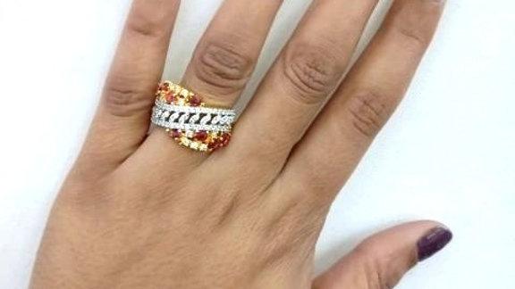 American Diamond(Cubic Zircon) Finger ring with warranty