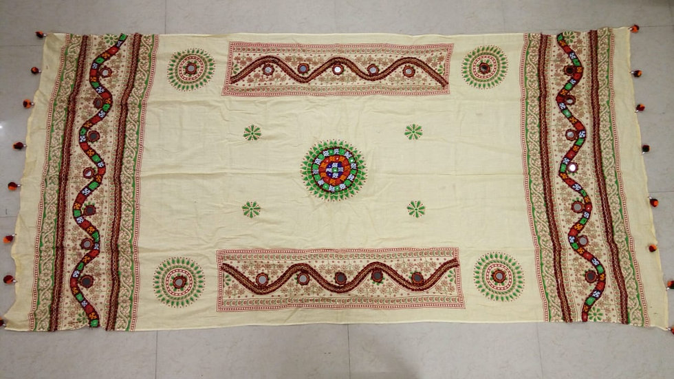 Original Kutch worked dupatta with finest quality of Handwork