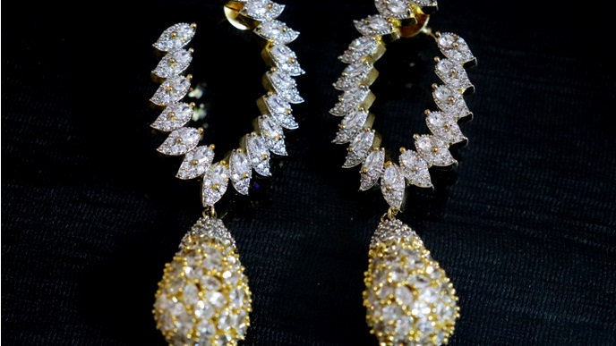 Buy this beautiful pair of American Diamond Dangler with an year warranty