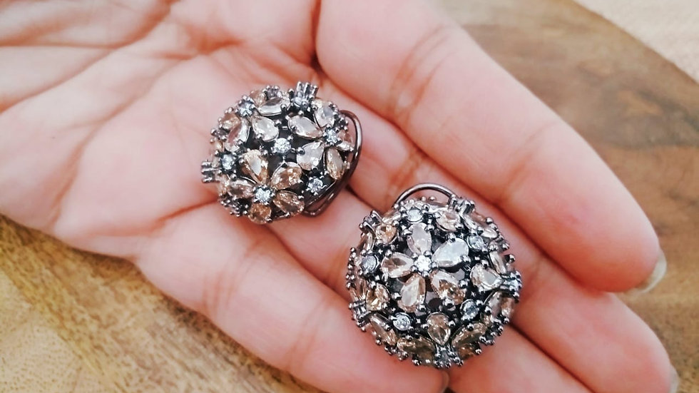 American diamond earring with warranty