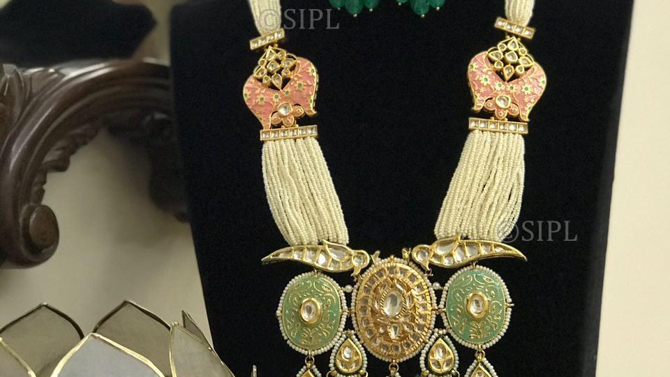 Luxury Design high-Quality Kundan Meenakari Necklace Set
