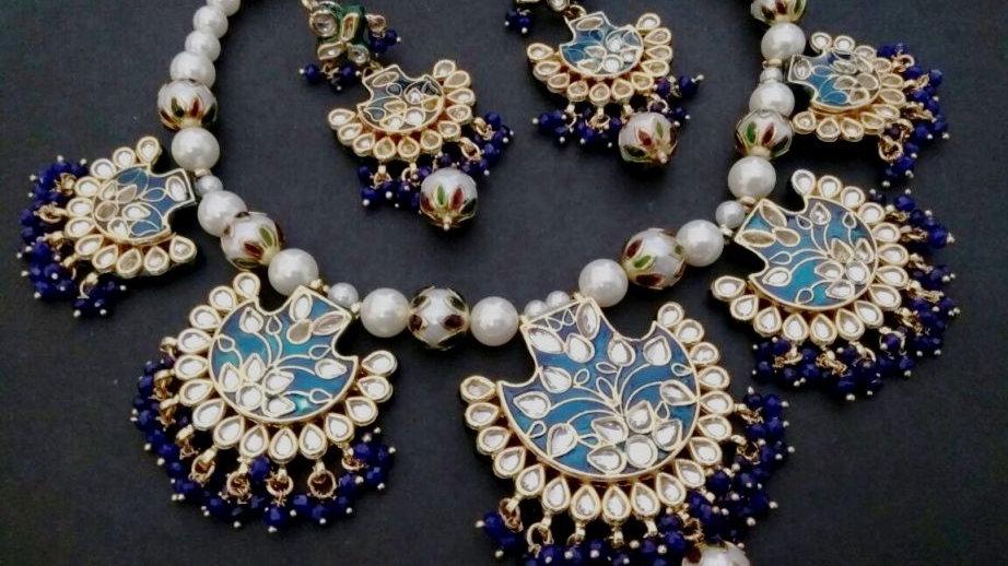 Kundan + Precious Pearl + Precious Beads necklace