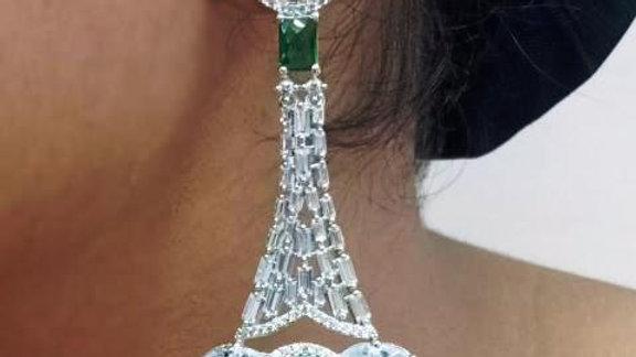 Buy this beautiful pair of danglers made of American Diamond