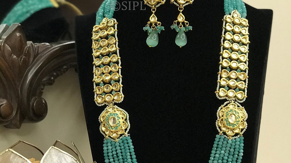 Amazing Handmade Meenakari Necklace Set with earring