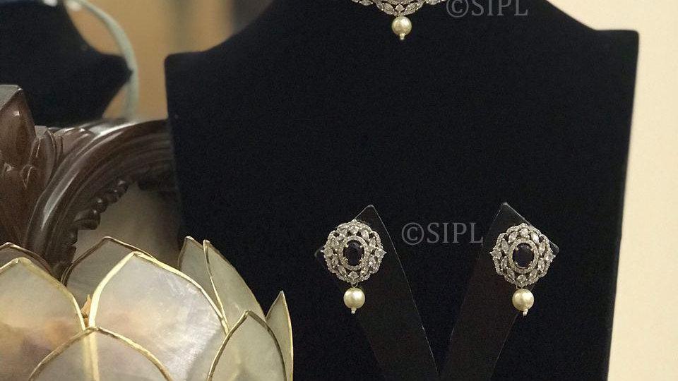 Grand Look American Diamond Necklace Set