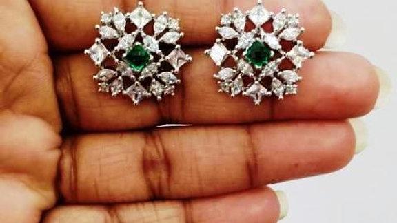 Buy this Pure Cubic Zircon(American Diamond) stud with warranty
