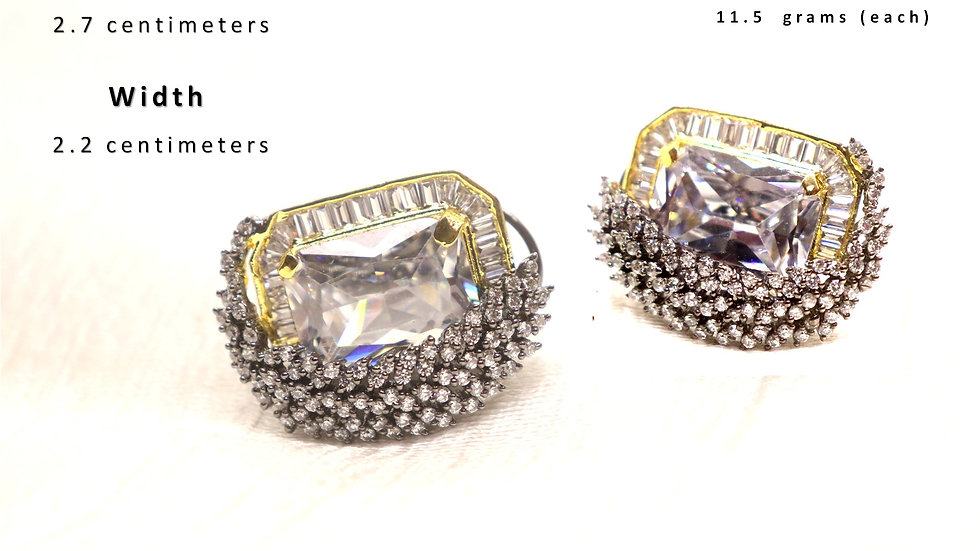 High Class American Diamond Studs with warranty