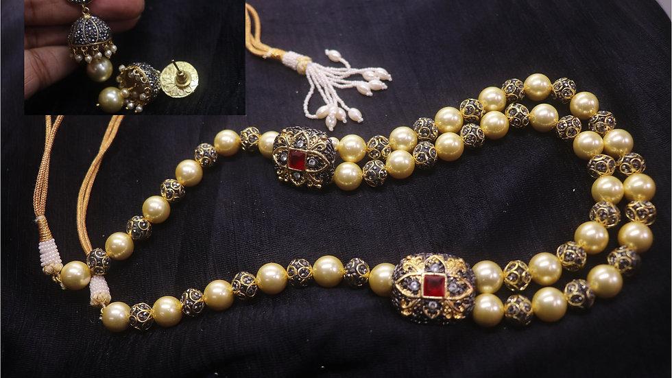 Buy this Precious Pearl + Precious Beads necklace set