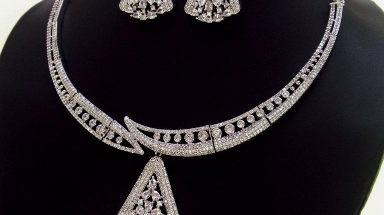 High quality American Diamond Necklace set